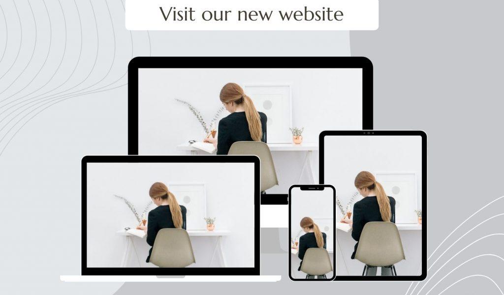 Grey Abstract Mockup New Website Launch Instagram Post